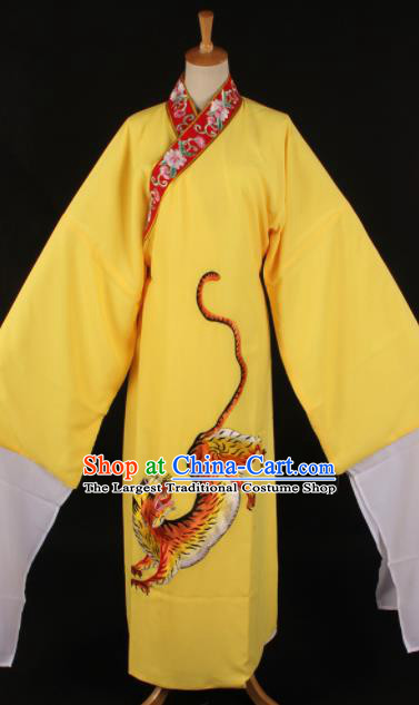 Traditional Chinese Shaoxing Opera Niche Yellow Robe Ancient Gifted Scholar Costume for Men