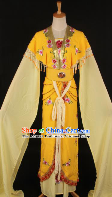 Chinese Traditional Shaoxing Opera Countess Yellow Dress Ancient Peking Opera Actress Costume for Women