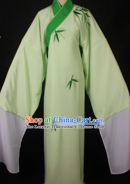 Traditional Chinese Shaoxing Opera Niche Embroidered Green Robe Ancient Gifted Scholar Costume for Men