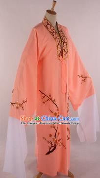 Traditional Chinese Shaoxing Opera Niche Orange Robe Ancient Childe Scholar Costume for Men