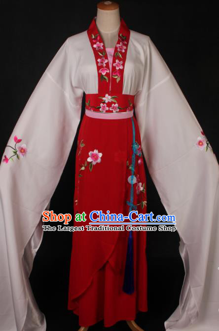 Traditional Chinese Shaoxing Opera Actress Red Dress Ancient Peking Opera Rich Lady Costume for Women