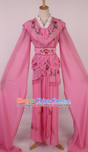 Chinese Traditional Shaoxing Opera Peri Pink Dress Ancient Peking Opera Actress Costume for Women