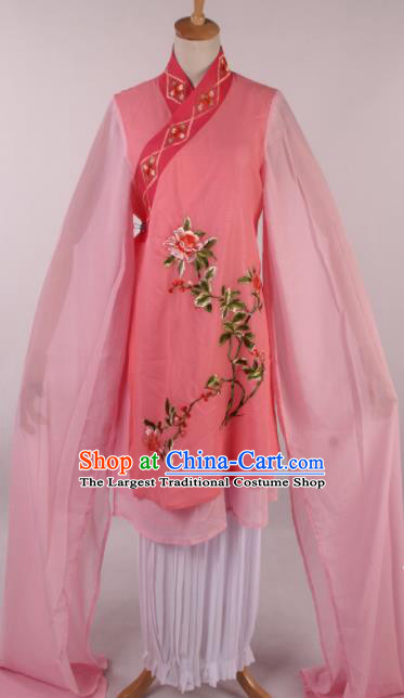 Chinese Traditional Shaoxing Opera Buddhist Nun Pink Dress Ancient Peking Opera Actress Costume for Women