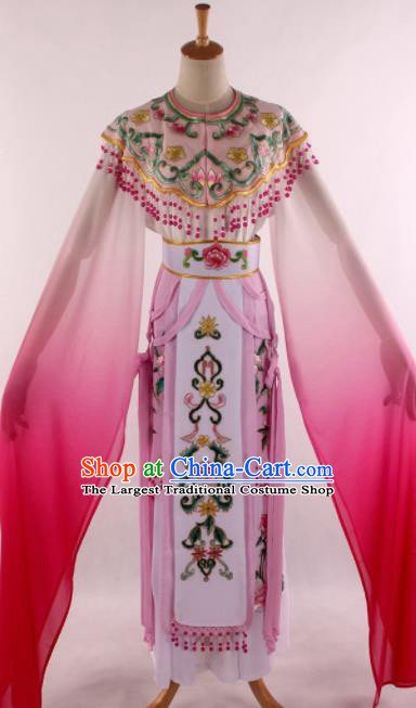 Chinese Traditional Shaoxing Opera Court Princess Pink Dress Ancient Peking Opera Actress Costume for Women