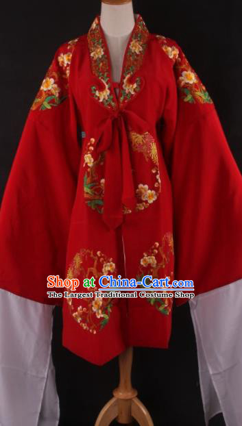 Chinese Traditional Shaoxing Opera Diva Red Cloak Ancient Peking Opera Actress Costume for Women