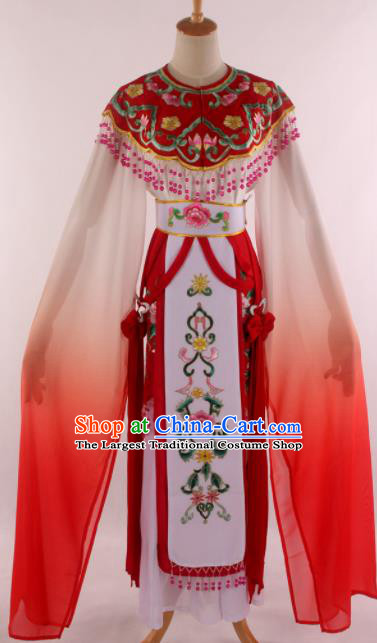 Chinese Traditional Shaoxing Opera Court Princess Red Dress Ancient Peking Opera Actress Costume for Women