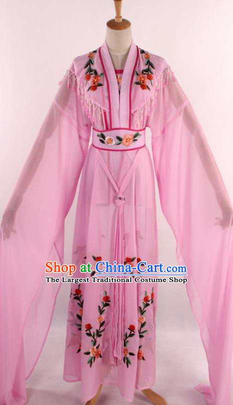 Chinese Traditional Shaoxing Opera Diva Goddess Pink Dress Ancient Peking Opera Actress Costume for Women