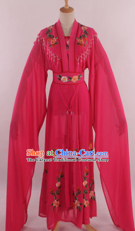 Chinese Traditional Shaoxing Opera Diva Goddess Rosy Dress Ancient Peking Opera Actress Costume for Women