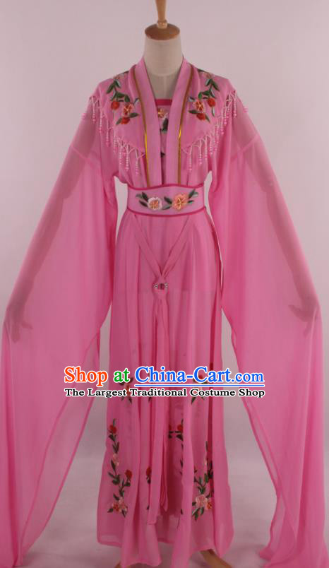 Chinese Traditional Shaoxing Opera Diva Goddess Deep Pink Dress Ancient Peking Opera Actress Costume for Women