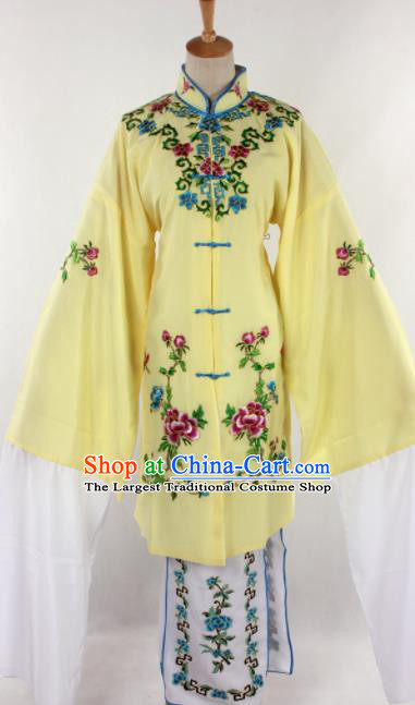 Chinese Traditional Beijing Opera Qin Xianglian Yellow Dress Ancient Peking Opera Diva Costume for Women