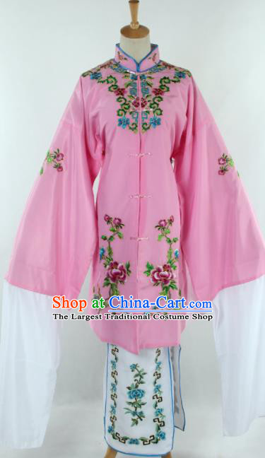 Chinese Traditional Beijing Opera Qin Xianglian Pink Dress Ancient Peking Opera Diva Costume for Women