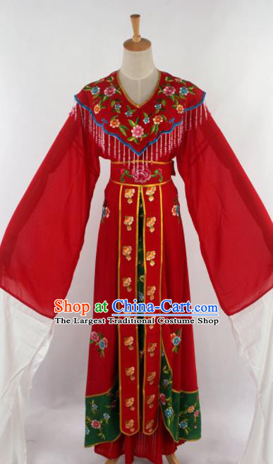 Chinese Traditional Beijing Opera Princess Red Dress Ancient Peking Opera Diva Costume for Women