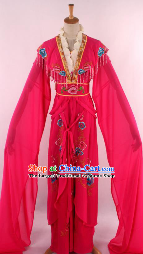 Chinese Traditional Beijing Opera Peri Rosy Dress Ancient Peking Opera Diva Princess Costume for Women