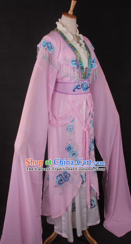 Chinese Traditional Beijing Opera Peri Pink Dress Ancient Peking Opera Diva Princess Costume for Women