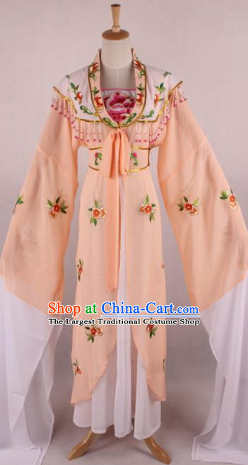 Chinese Beijing Opera Princess Orange Dress Ancient Traditional Peking Opera Actress Costume for Women