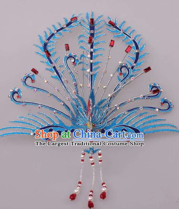 Traditional Chinese Shaoxing Opera Diva Phoenix Coronet Hairpins Ancient Princess Hair Accessories Headwear for Women