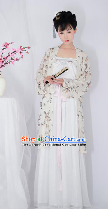 Chinese Ancient Drama Printing Hanfu Dress Traditional Song Dynasty Young Lady Replica Costumes for Women