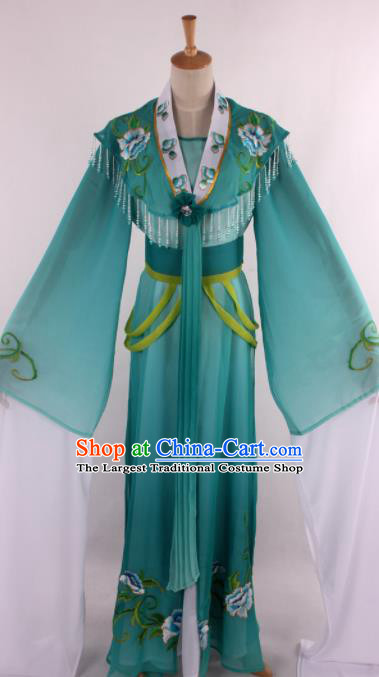 Chinese Traditional Opera Romance of the West Chamber Green Dress Ancient Peking Opera Nobility Lady Costume for Women