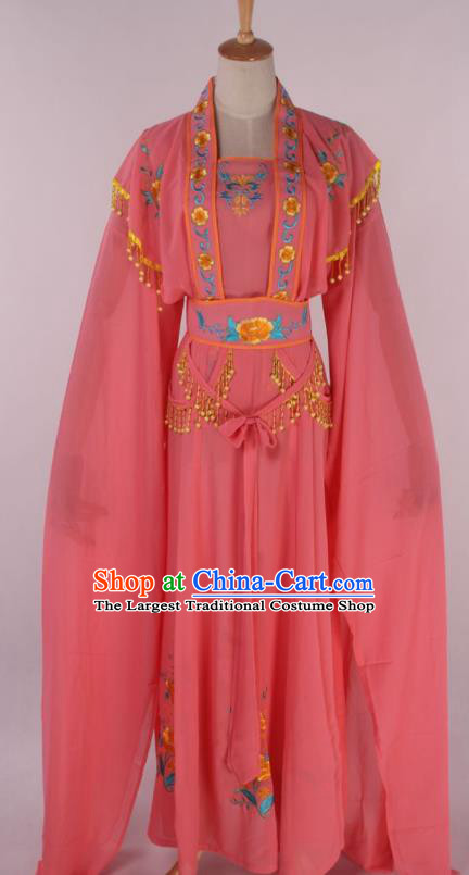 Chinese Beijing Opera Court Maid Watermelon Red Dress Ancient Traditional Peking Opera Diva Costume for Women