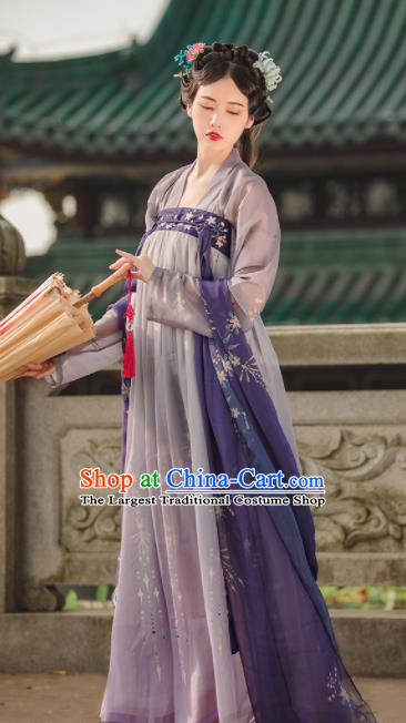 Chinese Ancient Drama Palace Princess Hanfu Dress Traditional Tang Dynasty Court Lady Replica Costumes for Women