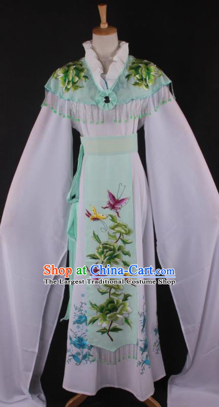 Professional Chinese Beijing Opera Princess Light Green Dress Ancient Traditional Peking Opera Diva Costume for Women