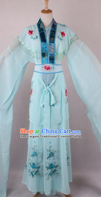 Professional Chinese Beijing Opera Nobility Lady Blue Dress Ancient Traditional Peking Opera Costume for Women