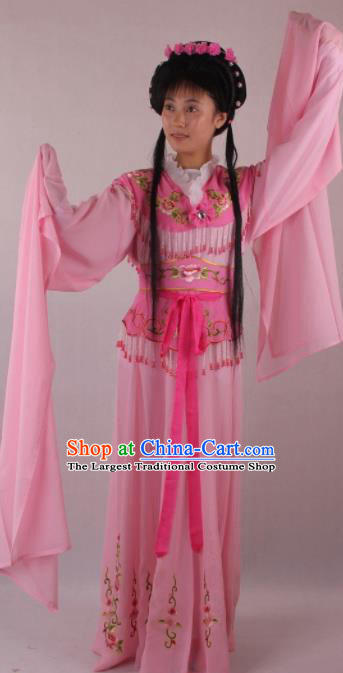 Professional Chinese Beijing Opera Rich Lady Pink Dress Ancient Traditional Peking Opera Diva Costume for Women