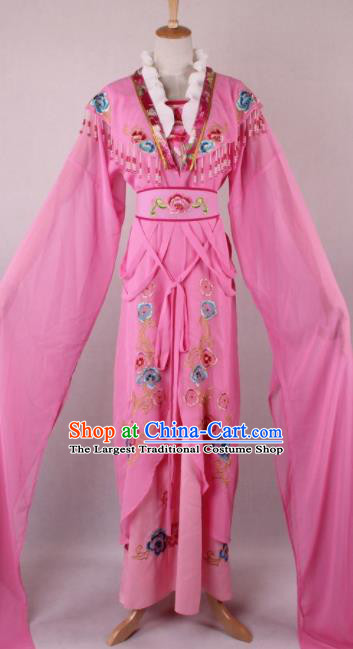 Professional Chinese Beijing Opera Diva Pink Dress Ancient Traditional Peking Opera Costume for Women