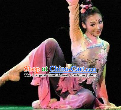 Traditional Chinese Classical Dance Ai Lian Shuo Costume Love Lotus Dance Dress for Women
