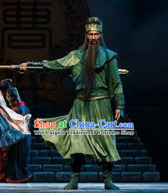 Traditional Chinese Classical Dance Guan Gong Costume Ancient General Guanyu Clothing for Men