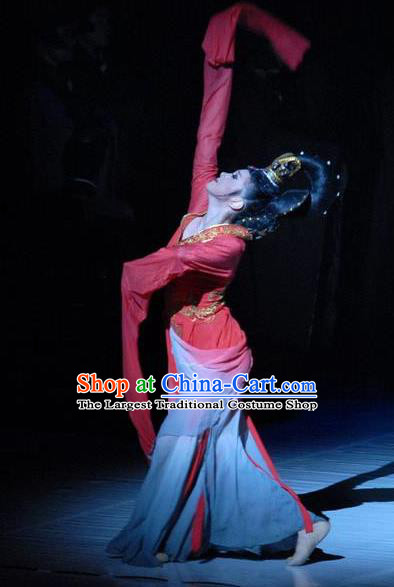 Traditional Chinese Classical Dance Luo Shen Costume Water Sleeve Stage Show Beautiful Dance Dress for Women
