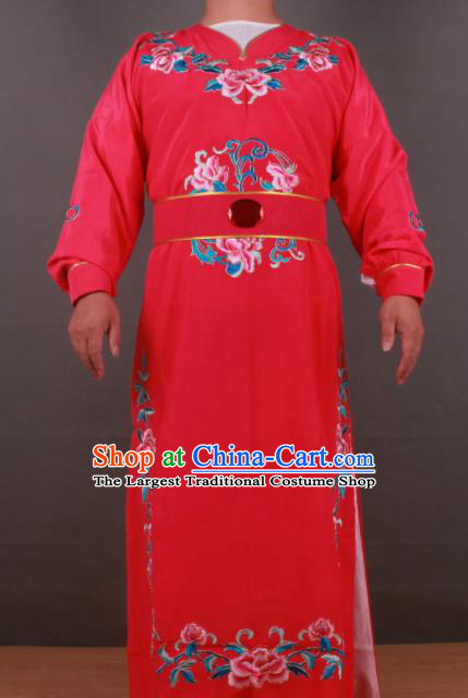 Chinese Shaoxing Opera Niche Jia Baoyu Rosy Robe Traditional Ancient Gifted Scholar Childe Costume for Men