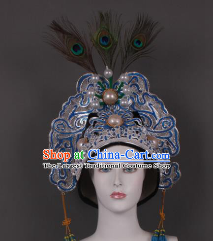 Traditional Chinese Shaoxing Opera Niche Feather Hat Ancient Gifted Scholar Headwear for Men