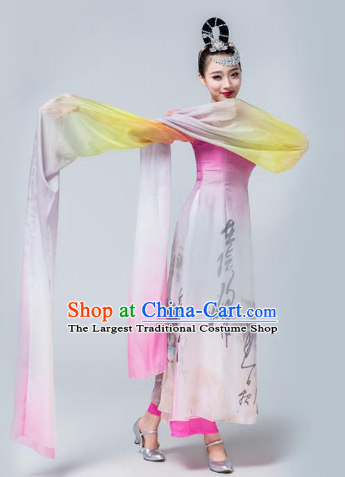 Traditional Chinese Spring Festival Gala Classical Dance Dress Stage Show Water Sleeve Dance Costume for Women