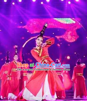 Traditional Chinese Classical Dance Luo Shen Yan Zixi Costume Stage Show Beautiful Dance Water Sleeve Dress for Women