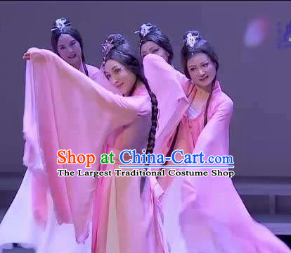 Traditional Chinese Classical Dance Luo Shui Jiao Ren Costume Stage Show Beautiful Dance Dress for Women