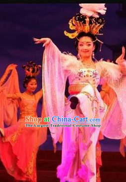 Traditional Chinese Classical Dance Ni Shang Yu Yi Wu Costume Stage Show Concubine Yang Beautiful Dance Dress for Women