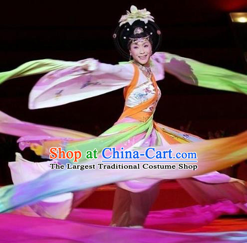Traditional Chinese Classical Dance Concubine Yang Ni Shang Yu Yi Wu Costume Stage Show Beautiful Dance Dress for Women