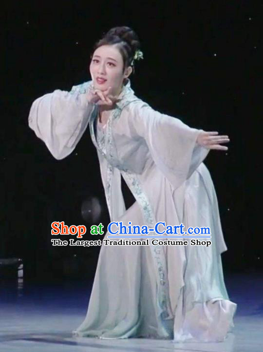 Traditional Chinese Classical Dance Ballet Competition Sheng Sheng Man Costume Stage Show Beautiful Dance Dress for Women