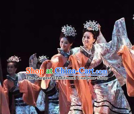 Chinese Beautiful Dance Tong Que Ji Costume Traditional Han Dynasty Classical Dance Competition Dress for Women