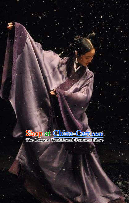 Chinese Beautiful Dance Tong Que Ji Costume Traditional Han Dynasty Court Classical Dance Competition Dress for Women