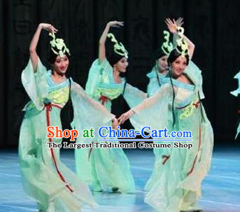 Beautiful Chinese Dance You Lan Cao Orchid Dance Costume Traditional Classical Dance Dress for Women
