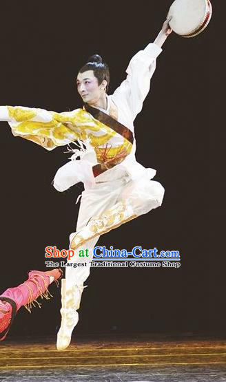 Traditional Chinese Classical Dance Tong Que Ji Costume Fan Dance Solo Dance Clothing for Men