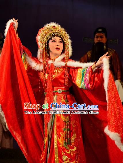 Beautiful Chinese Dance Beijing Opera Wang Zhaojun Red Costume Traditional Classical Dance Dress for Women