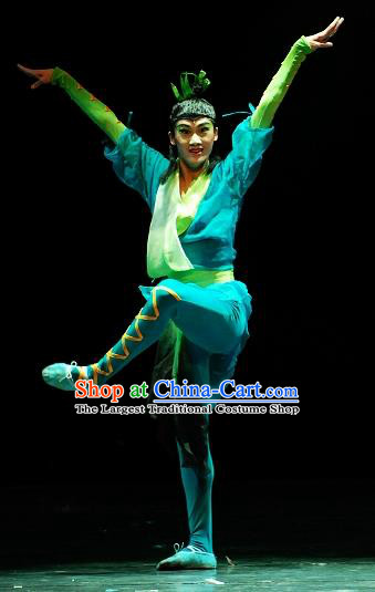 Traditional Chinese Classical Dance Costume Bamboo Dream Solo Dance Clothing for Men