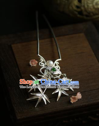 Chinese Ancient Princess Bamboo Hairpins Traditional Hanfu Hair Clip Hair Accessories for Women