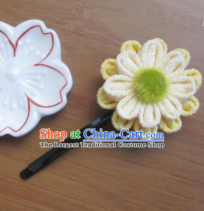 Japanese Geisha Courtesan Sunflower Little Hairpins Traditional Yamato Kimono Hair Accessories for Women