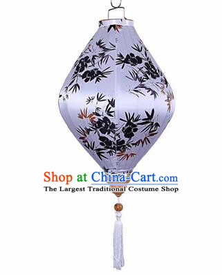 Chinese Traditional Silk Tear Shape Hanging Lantern New Year Handmade Painting Bamboo Palace Lanterns