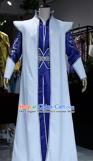 Chinese Ancient Drama Swordsman Costumes Traditional Prince Dragon Ao Bing Clothing for Men