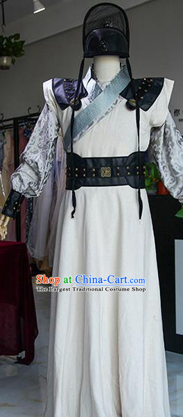 Chinese Ancient Drama Imperial Bodyguard Costumes Traditional Ming Dynasty Swordsman Clothing for Men